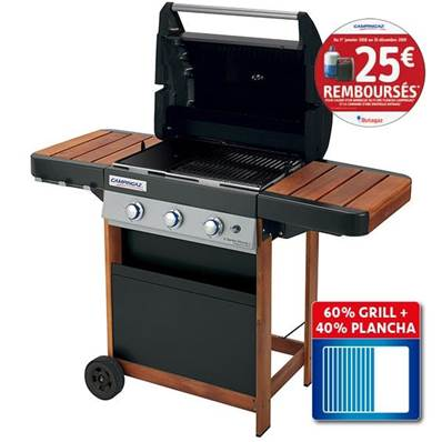 BARBECUE GAZ 3 SERIES Woody LD