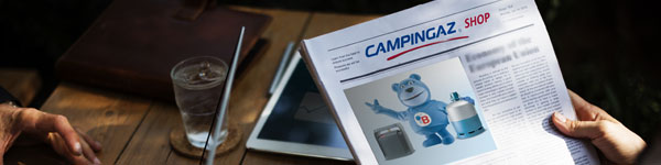 Photo d'un journal d'actualités de Campingaz Shop
